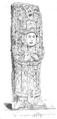 Illustrirte Zeitung (1843) 07 008 2 Vordere Ansicht eines Götzenbildes in Säulenform.PNG