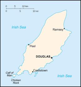 Mapa de la Isla de Man