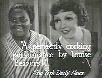 Louise Beavers - with Claudette Colbert in Imitation of Life (1934)