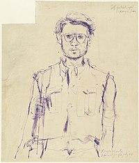 In the Jungle - Self Portrait, Konyu, Thailand Jungle, July 1943 Art.IWMART1574776.jpg