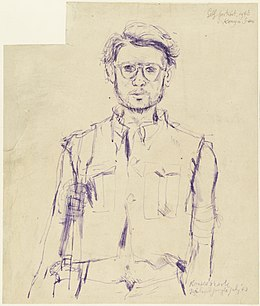 In the Jungle - Self Portrait, Konyu, Thailand Jungle, July 1943 Art.IWMART1574776.jpg
