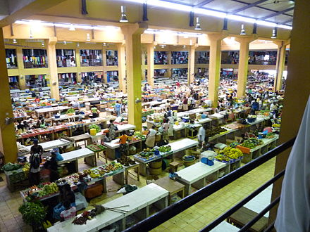 Mercado Coco-coco, a marketplace in the city of Sao Tome In the city center, the new marketplace bustles with activity..jpg