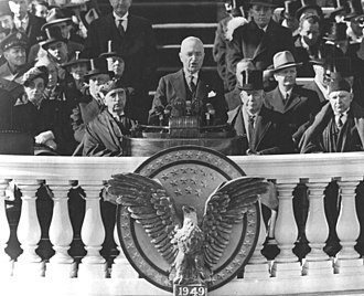 Second inauguration of Harry S. Truman - Harry Truman delivers his inaugural address after being sworn in for his second (only full) term in office.