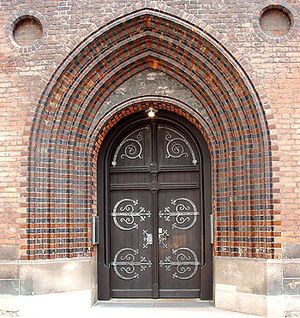 Aarhus Cathedral - The main door