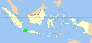 Map showing West Java in Indonesia