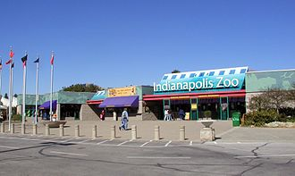 Indianapolis Zoo - Zoo entrance