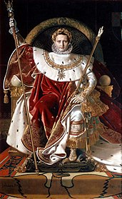 Napoleon on his Imperial Throne, 1806.