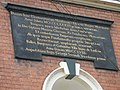Inscription above the almshouses opposite Ludlow Parish Church - geograph.org.uk - 1466336.jpg
