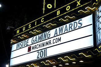 Machinima, Inc. - 2011 Inside Gaming Awards presented by Machinima