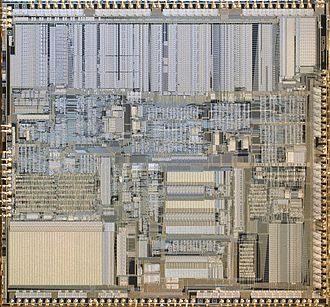Intel 80386 - Intel A80386DX-20 CPU Die Image