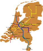 Dutch intercity network, 2011