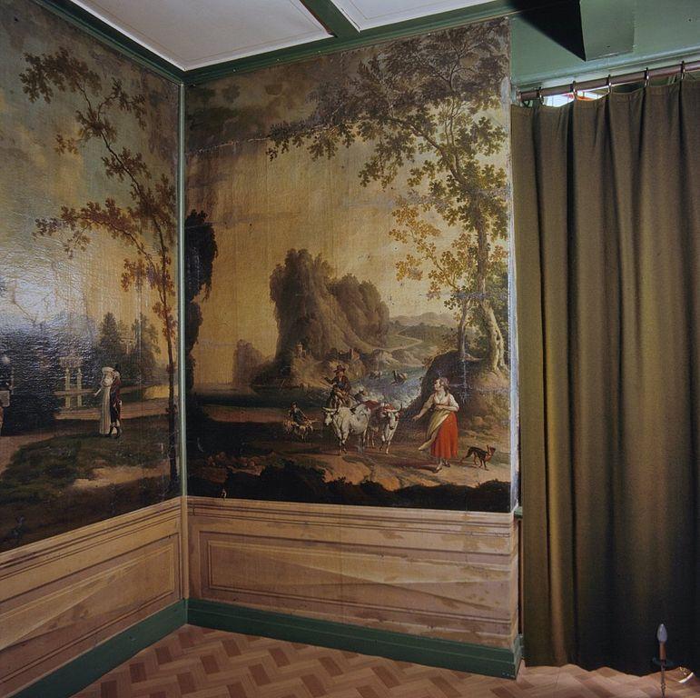 File interieur woonkamer met geschilderd behang for Interieur woonkamer
