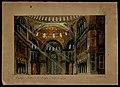 Interno di S. Sofia a Costantinopoli, bozzetto di artista ignoto per Maometto II (1892) - Archivio Storico Ricordi ICON007610.jpg