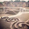 Intricate waterways leading to terrace pools in Jahal Mahal.JPG