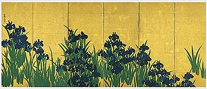 Byōbu - Image: Irises screen 1