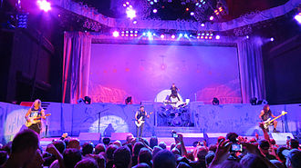Maiden England World Tour - Iron Maiden performing live in Greenwood Village, Colorado on 13 August 2012.