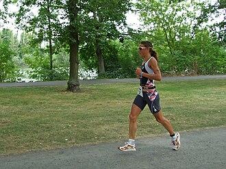 Chrissie Wellington - Wellington winning the 2008 Frankfurt Ironman