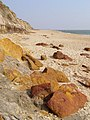 Ironstone boulders on the beach at Hengistbury Head - geograph.org.uk - 386341.jpg
