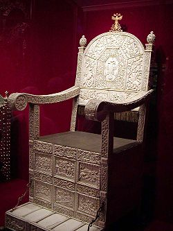 The Ivory Throne of Tsar Ivan IV of Russia.