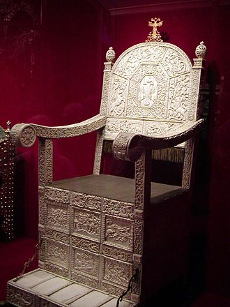 Regalia of the Russian tsars - Ivory throne of Ivan IV