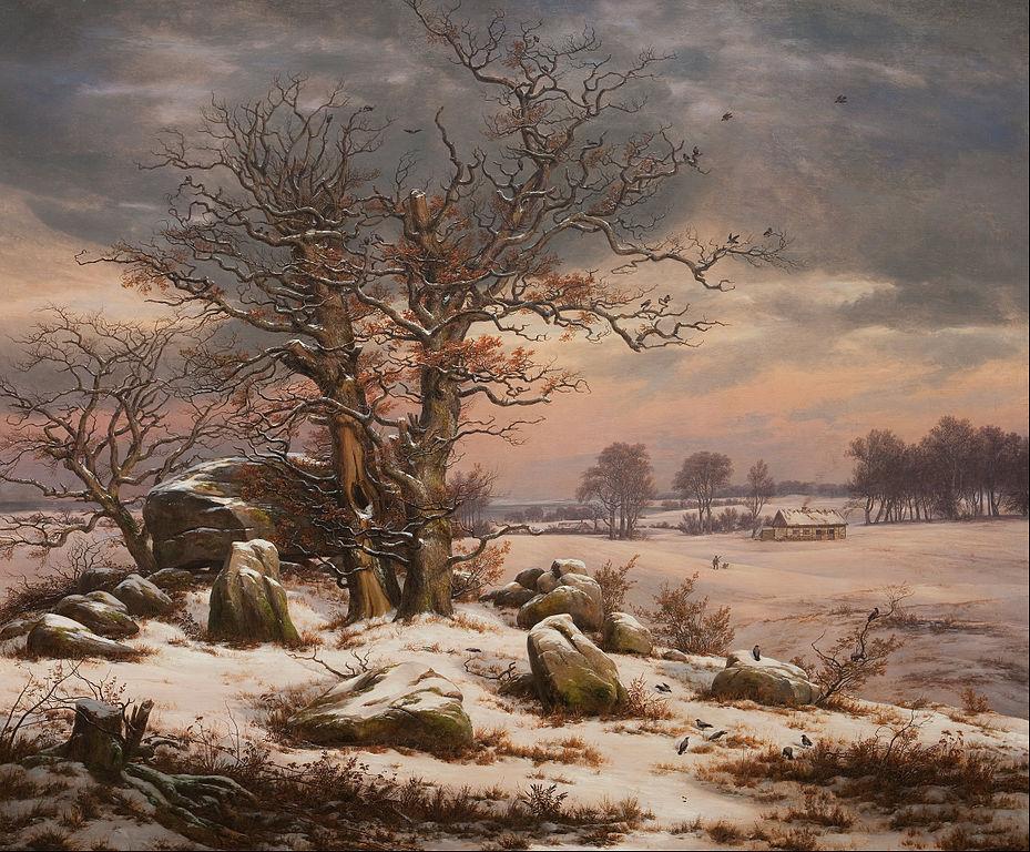 """""""Paysage d'hiver près Vordingborg au Danemark"""" de J.C. Dahl (1829)"""