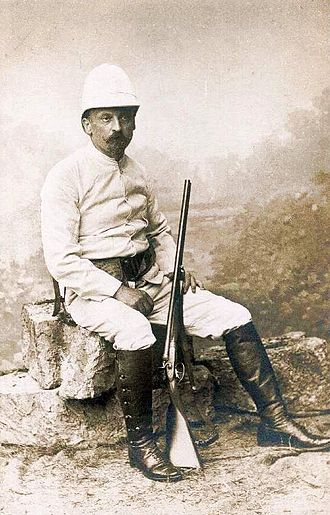 Henryk Sienkiewicz - Sienkiewicz in safari outfit, 1890s