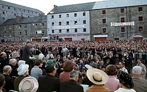 1963 in Ireland - U.S. president John F. Kennedy addresses the people of New Ross.