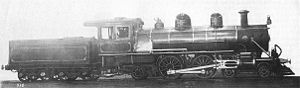 CGR 4th Class 4-4-2 - Image: JNR 6600