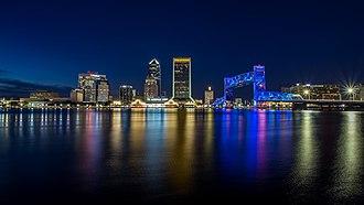 Eastern United States - Image: Jacksonville at Night (39527326802)