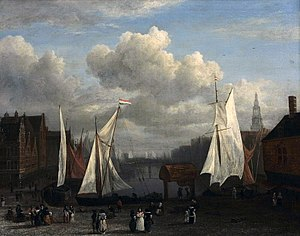 View of the Dam and Damrak at Amsterdam - Image: Jacob Isaacksz. van Ruisdael 026