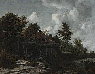 Two Watermills and an Open Sluice near Singraven - Image: Jacob van Ruisdael Watermill