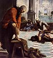 Jacopo Tintoretto - Christ Washing the Feet of His Disciples (detail) - WGA22429.jpg