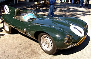 British racing green - 1954 Jaguar D-type
