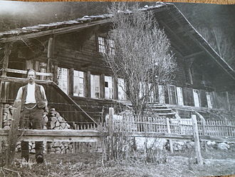 Jakob Ammann - Jakob Amman's house (dismantled in 1955) from the 17th century in Thal Erlenbach (Photo appr. 1900)