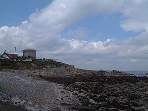 The James Joyce Martello tower at Sandycove, C...