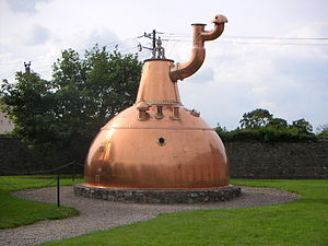 Jameson Irish Whiskey - Historical pot still at the Jameson distillery in Cork