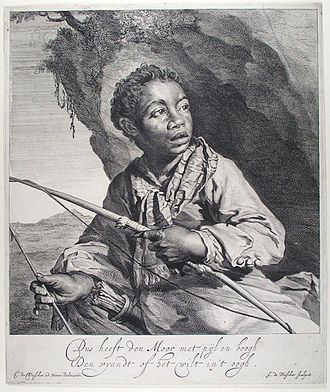 Jan de Visscher - The Moor, an etching after a drawing by his brother Cornelis