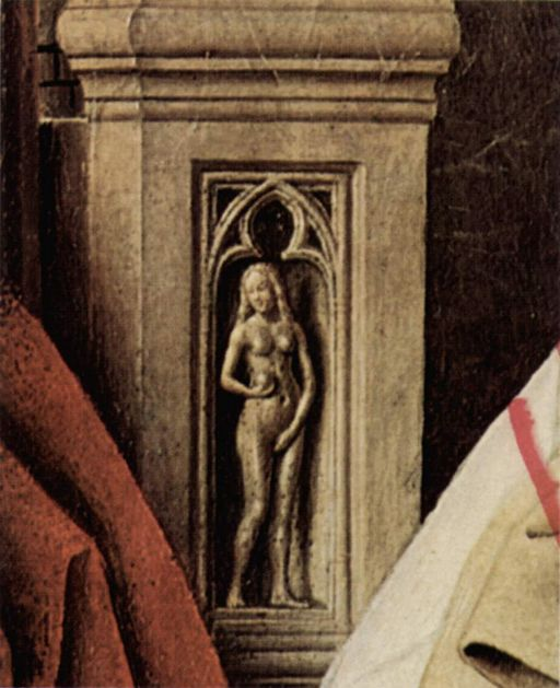 """Virgin and Child with Canon van der Paele"" by Jan van Eyck"