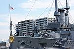 Japanese Battleship Mikasa at Yokosuka - 2013 - fore.JPG