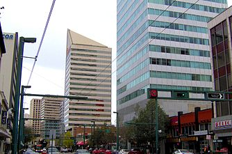 Jasper Avenue is at the heart of downtown Edmonton.