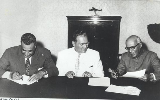 Jawaharlal Nehru, Nasser and Tito at the Conference of Non-Aligned Nations held in Belgrade