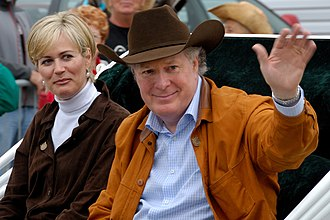 Jean Charest - Jean Charest and his wife, Michèle Dionne, at the Festival Western de Saint-Tite in Saint-Tite, Quebec on September 7, 2008.