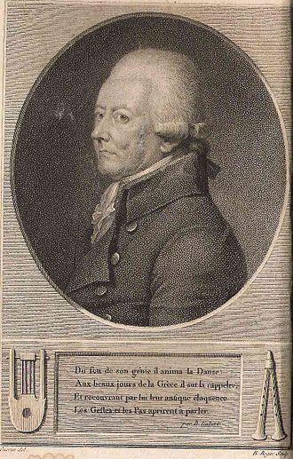 Jean-Georges Noverre - Noverre: frontispiece of Lettres sur les arts imitateurs, Paris, Collin, The Hague, Immerzeel, 1807