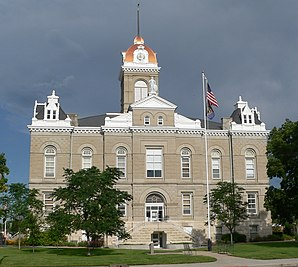 Jefferson County Courthouse, gelistet im NRHP Nr. 72000751[1]