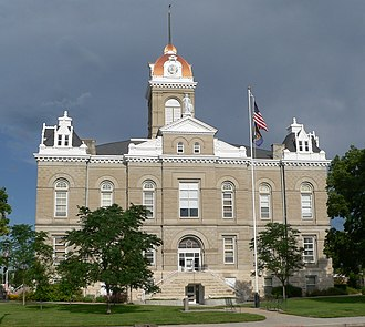Jefferson County, Nebraska - Image: Jefferson County, Nebraska courthouse from E