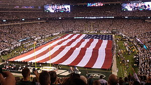 2011 New York Jets season - September 11 tribute before the Jets' first game, against Dallas at MetLife Stadium