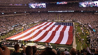 MetLife Stadium - Pre-game ceremony prior to the Jets-Cowboys game on September 11, 2011