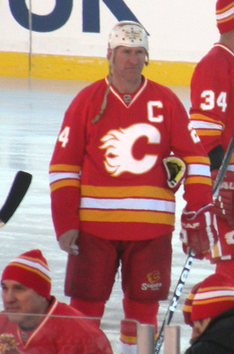 Jim Peplinski - Peplinski prior to the alumni game at the 2011 Heritage Classic.
