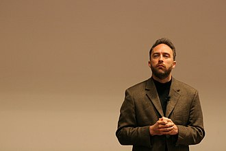 FOSDEM - Jimmy Wales at FOSDEM, 2005