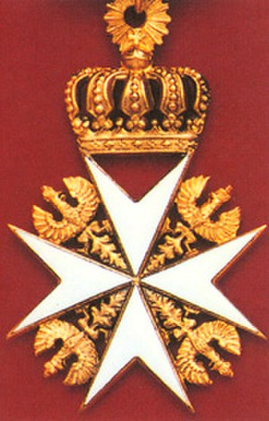 Order of Saint John (Bailiwick of Brandenburg) - The cross of a Knight of Justice.